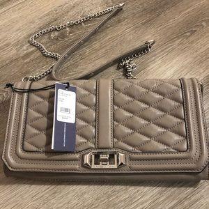 Leather Clutch w/ Strap